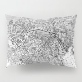 Vintage Map of Providence Rhode Island (1899) BW Pillow Sham