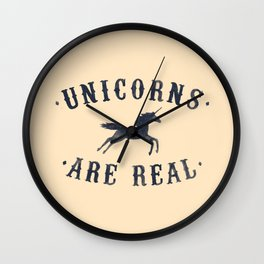 Unicorns Are Real II Wall Clock