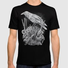 White Raven Mens Fitted Tee LARGE Black