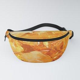 """Amber Quartz Solar Orange Crystal Opal Gem Stone"" Fanny Pack"