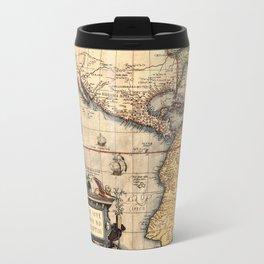 Map Of The Americas 1570 Travel Mug