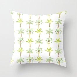 Tropical Tree Print Throw Pillow