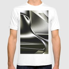 Sinuosity White MEDIUM Mens Fitted Tee