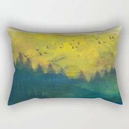 Mountain Lake Rectangular Pillow