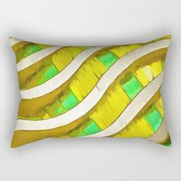Pop Art Urban Architecture Apartment Block Rectangular Pillow