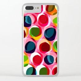 Circles - Sarah Bagshaw Clear iPhone Case