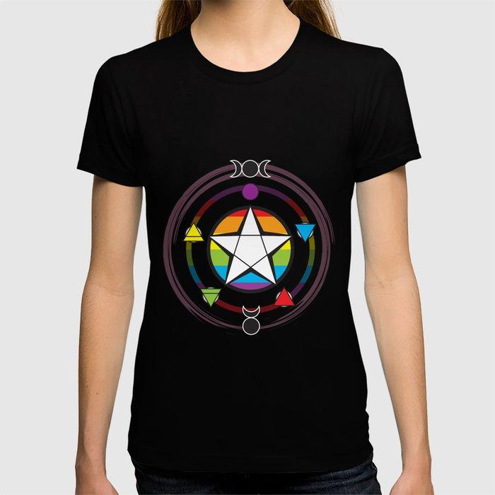LGBTQ Elemental Pentagram T-shirt