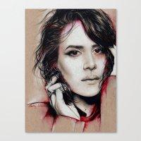 sarah paulson Canvas Prints featuring Sarah by marziiporn