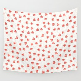 Sparkly hearts Wall Tapestry