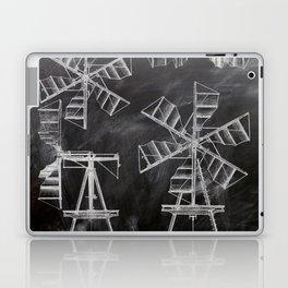 steampunk western country chalkboard art agriculture farm windmill patent print Laptop & iPad Skin