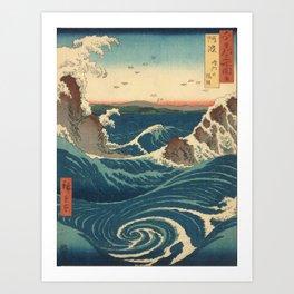 Vintage poster - Japanese Wave Art Print