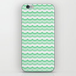 Green Waves iPhone Skin