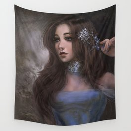 Romantic and elegant girl portrait Wall Tapestry