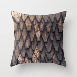 Stave Church Wall Throw Pillow