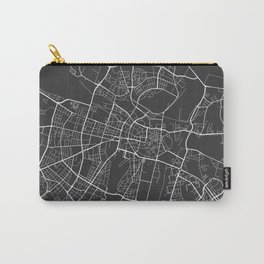 Poznan Map, Poland - Gray Carry-All Pouch