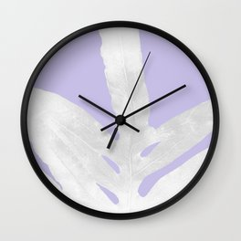 Green Fern on Lavender Inverted Wall Clock