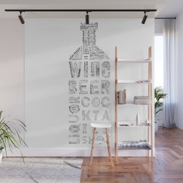 Bottle Drinks Tag Cloud Wall Mural