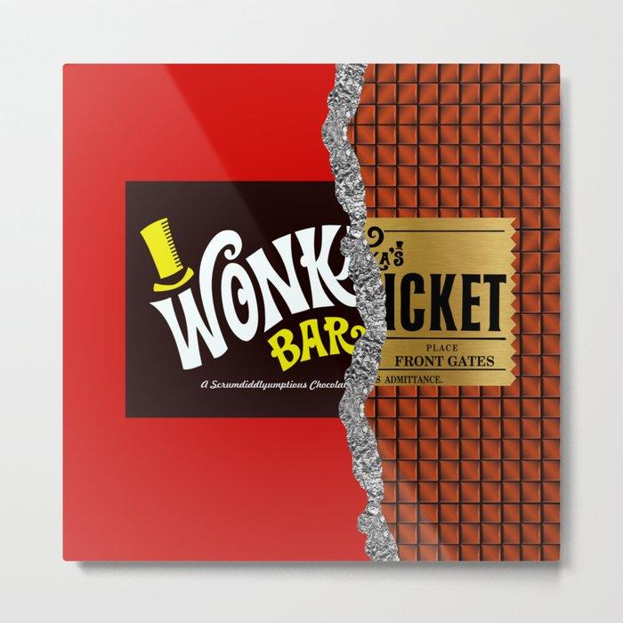 Willy Wonka Bar Metal Print