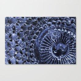 Blue Glass Bubbles abstract Macro  Canvas Print