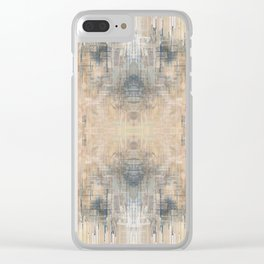 Glitch Vintage Rug Abstract Clear iPhone Case