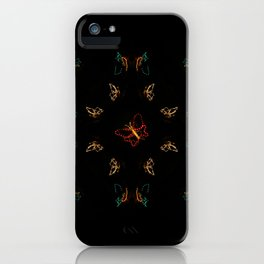 Christmas Lights Pattern - Butterfly iPhone Case