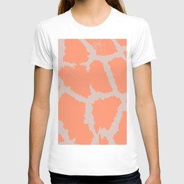 Giraffe pattern grey and pink T-shirt