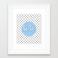 xoxo Framed Art Prints featuring XOXO by Pati Designs & Photography