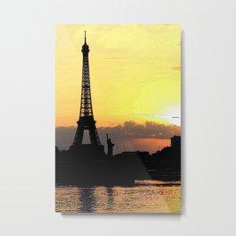 Eiffel vs Bartholdi Metal Print