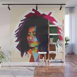 beautiful frizzy girl Wall Mural
