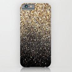Black & Gold Sparkle iPhone 6s Slim Case