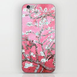 Van Gogh Almond Blossoms : Pink & Aqua iPhone Skin