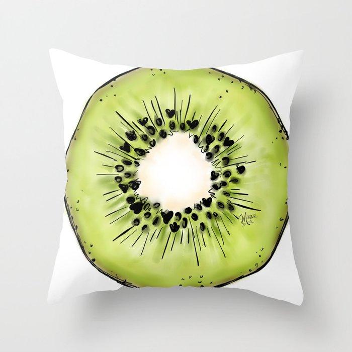 Kiwi Throw Pillow By Byminoue Society6