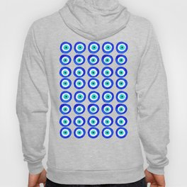Evil Eye Amulet Talisman - on white Hoody