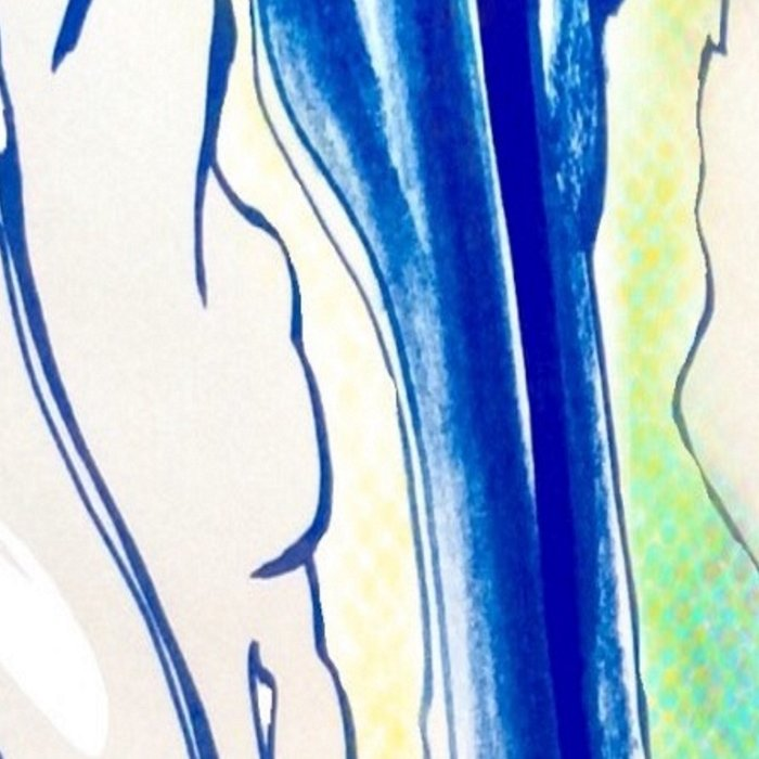 Plant in Blue Marker - Leaf of Life Miracle Leaf - Rainbow Colorful 2 Leggings