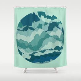 TOPOGRAPHY 006 Shower Curtain