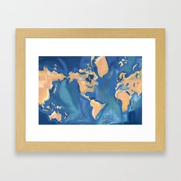 World Map Framed Art Print