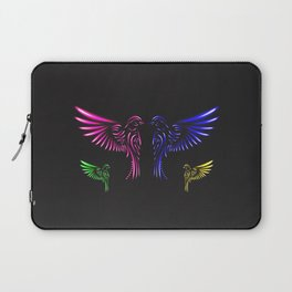 Glowing Birds Laptop Sleeve