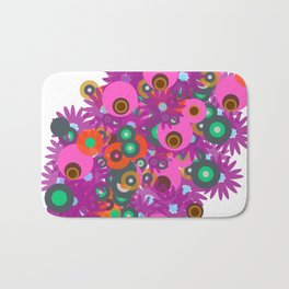 flower circles corsage Bath Mat