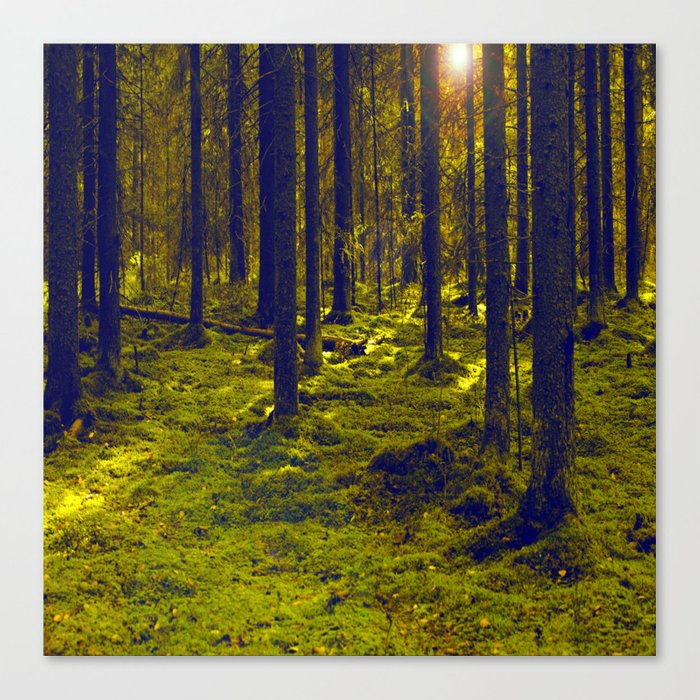 Green Forest #decor #society6 Canvas Print