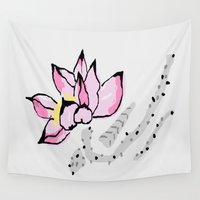 lotus Wall Tapestries featuring Lotus by Vitta