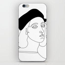 rafael santi artist by one line iPhone Skin