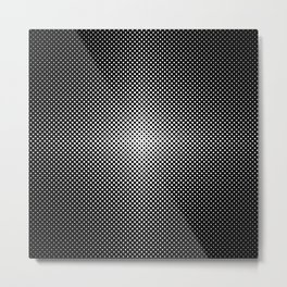 Illuminant polka dot pattern Metal Print