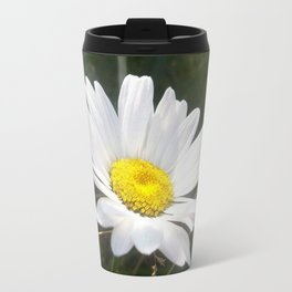 Close Up of a Margarite Daisy Flower Travel Mug