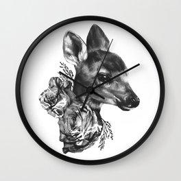 Fawn & Flora I Wall Clock