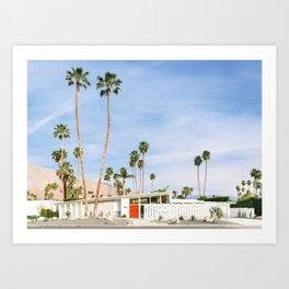 Palm Springs Red Doors Art Print