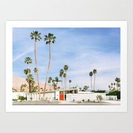 Palm Springs Red Doors Art Print