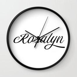 Name Rosalyn Wall Clock