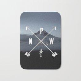 PNW Pacific Northwest Compass - Mt Hood Adventure Bath Mat