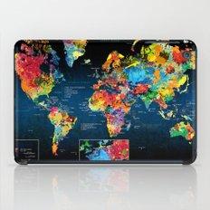 World Map Black - 2 iPad Case