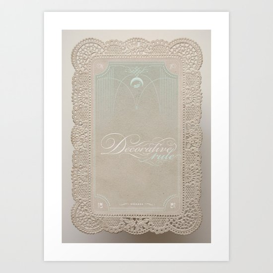 Decorative Rule Art Print